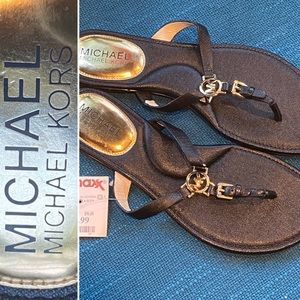 Michael Kors Leather Thong Flip-Fop Sandals NWT